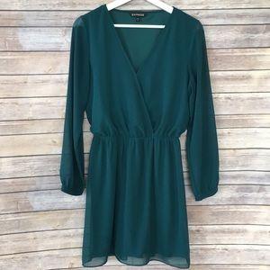 Express emerald sheer dress